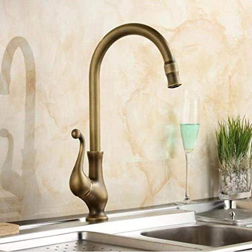 Antieke keukenkraan wastafel waterkraan Lavabo bronzen messing water keukenarmatuur wastafel waterkraan mengkraan kraan kraan stijl 3