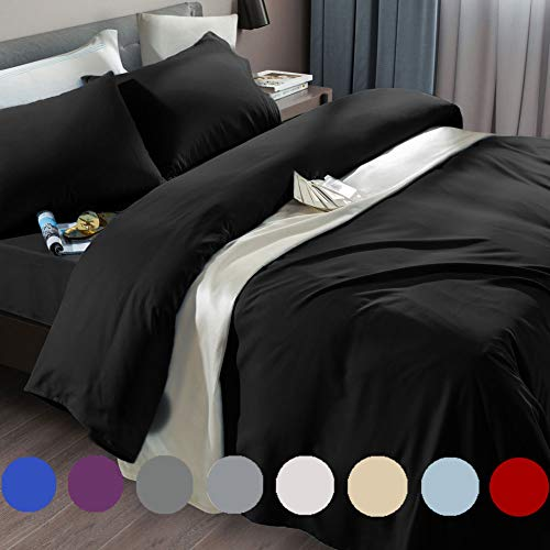 SONORO KATE Bed Sheet Set Super Soft Microfiber 1800 Thread Count Luxury Egyptian Sheets Fit 18-24 Inch Deep Pocket Mattress Wrinkle and...