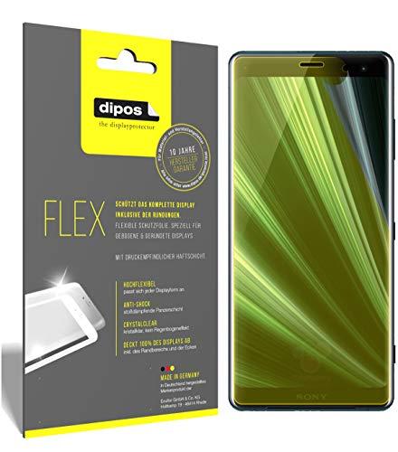 dipos I 3X Schutzfolie 100prozent kompatibel mit Sony Xperia XZ3 Folie (Vollständige Bildschirmabdeckung) Bildschirmschutzfolie