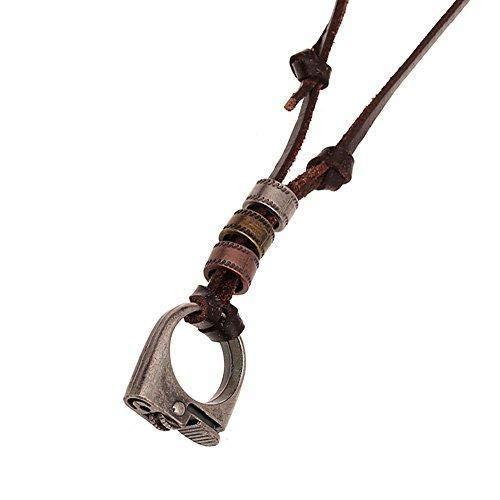 Hoveey Schmuck Feuerzeug Zubehör für Frau/Mann Form Retro Leder Halskette Paar Weihnachten Geburtstag Geschenk 1 Stück