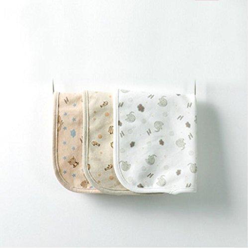 Liuyu · Maison de Vie Double Mouchoir de bébé de Coton Nourrir Les Bavoirs de Serviette de Lait Nouveau-nés 3 pcs/Ensemble