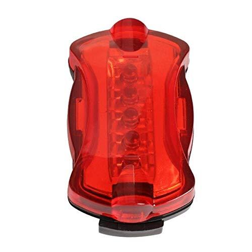 Frieed Impermeable a Caballo Trasera luz Trasera for Bicicleta de montaña Mini llevó la luz con lámpara de Cola Ciclismo 6 Modos Durable (Color : 1)