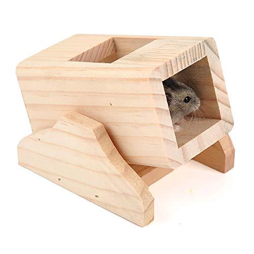 QNMM Juguete de Madera Túnel de Juguete Mascota Casa de Madera Casa de Rata Casa de Juguete Mini cabaña Parque Infantil