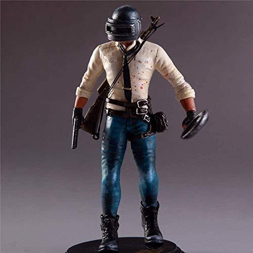 N/X Puppe Pubg Figur H1z1 Spieler unbekannt S Schlachtfelder Pubg Modell Puppe PVC 17cm Spielzeug Actionfigur