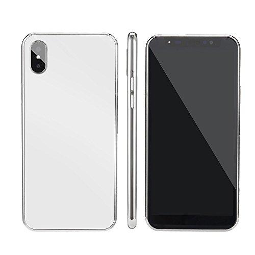 Yncc Nouveau Mode 5.72 Pouces Dual Hdcamera Smartphone Android 6.0 IPS écran Complet à éCran Tactile GSM/Wcdma 4Gb Dual Sim WiFi Bluetooth GPS 3G Appeler Un TéLéPhone Mobile (White)