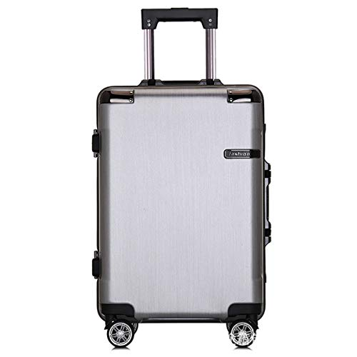 fosa1 Hand Luggage Trolley case ABS+PC Convenient Trolley Case,Super Storage Luggage Bag,Wheels Travel Rolling Boarding,20' 24' Inch (Color : Silver, Size : 24inch)