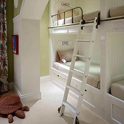 Herraje para Puerta Corredera Kit 3.3ft-13ft Biblioteca de escaleras deslizantes Juego completo de riel rodante de hardware (sin escalera), Riel de tubo redondo de acero inoxidable para el hogar / int