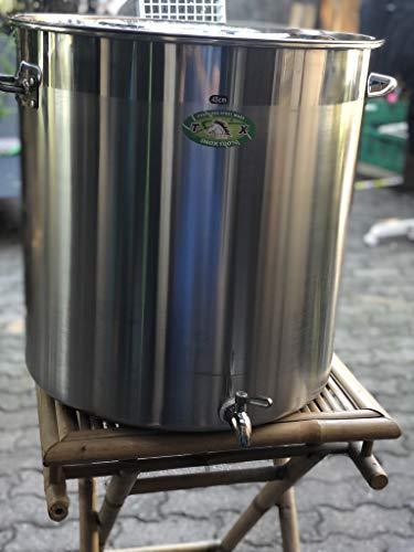 Cacerola con grifo de 50 litros, acero inoxidable, gran capacidad, ideal para cerveza