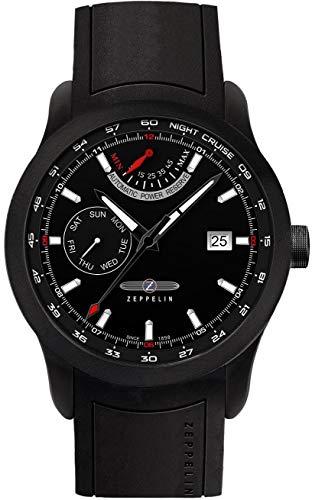 Zeppelin Herren Analog Automatik Uhr mit Kautschuk Armband 72602