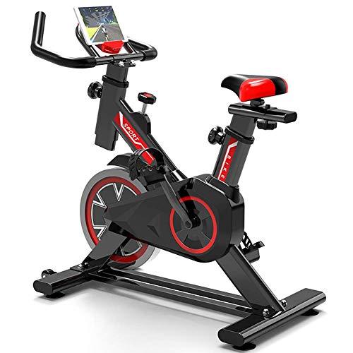 WGFGXQ Bicicleta de Interior Ecise Bike Spinning Bicicleta de Fitness Bicicleta de Ciclo de transmisión silenciosa con Manillar Ajustable y Asiento Volante Cromado Pedal de Entrenamiento físico par