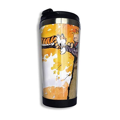 XCNGG Retro Anime Evangelion Triste Taza de viaje estética japonesa Taza de café Vaso aislado al vacío de acero inoxidable 13.5 Oz