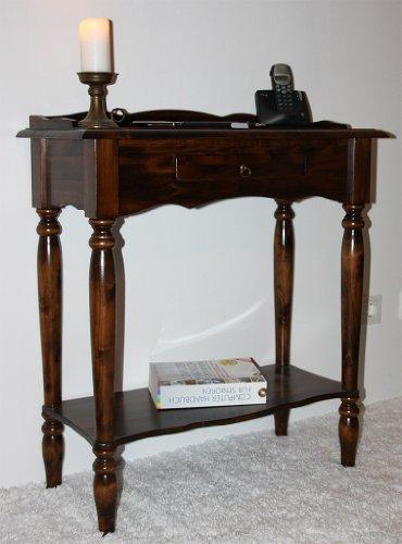 CASA Massivholz Konsolentisch kolonial Beistelltisch Telefontisch