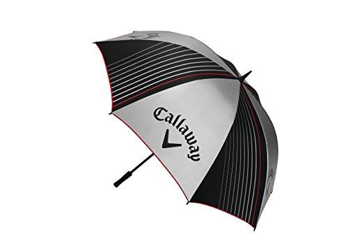 Callaway Golf-64Single Regenschirm UV-Erwachsene, Unisex, Grau/Schwarz, Einheitsgröße