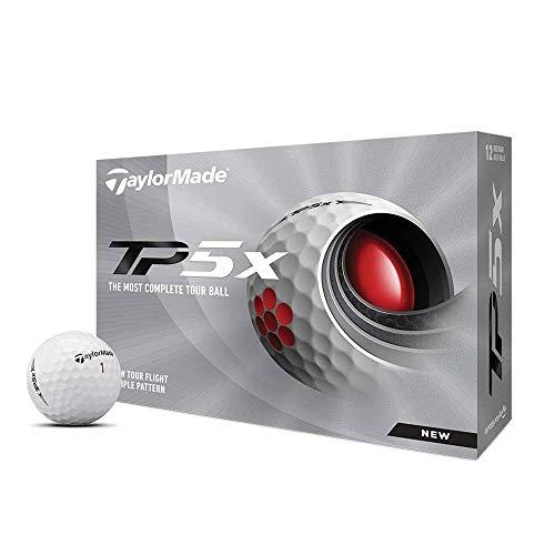 TaylorMade Golf Mens TP5X 5 Layers Tour Golf Balls 1 Dozen