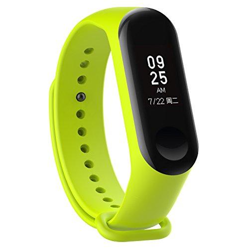 KOMI Correa de reloj compatible con Xiaomi Mi Band 4 / Mi Band 3, mujeres hombres hombres fitness deportes banda reemplazo