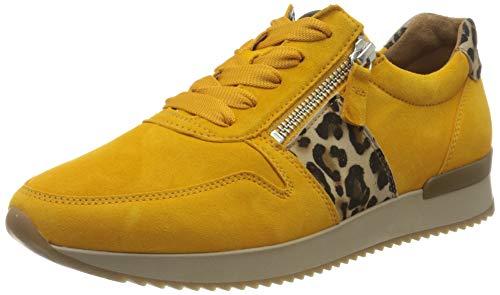 Gabor Damen Jollys 43.42 Sneaker, Gelb (Mango/Natur 13), 38 EU
