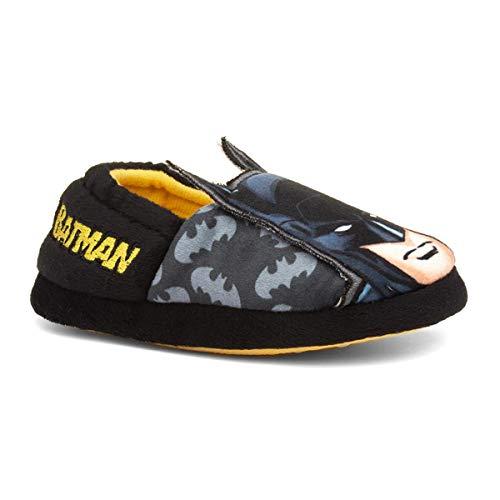 Shoe Zone Batman Ovis Kinder-Hausschuhe, Schwarz, Schwarz - Schwarz - Größe: 31 EU
