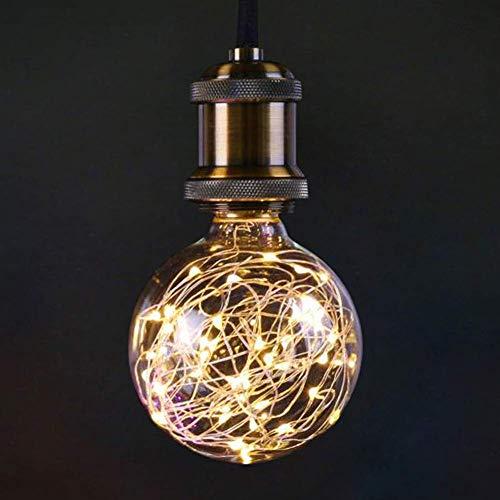 LED Glühbirne, E27 Kupferdraht Vintage LED Birne, 3W 300lm Warmweiß Kreative Lichterkette, dekorative Beleuchtung für Hauscafés Party Urlaub Hochzeit, nicht dimmbar