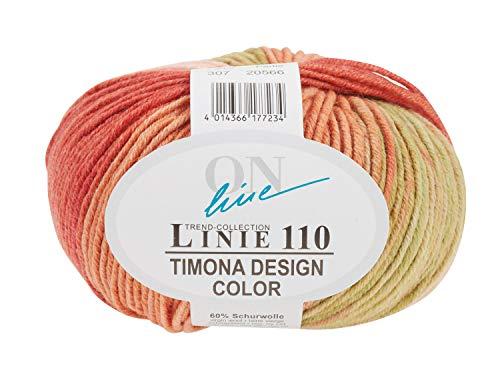 Online Wolle Trend-Collection Linie 110 Timona Design Color 50g Garn 60% Schurwolle Strickgarn Häckelgarn Farbe 307