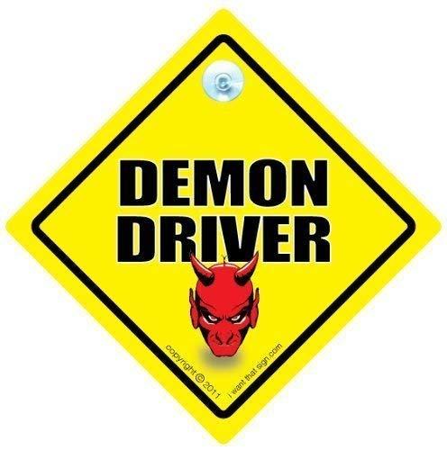 Demon pilote voiture Panneau, panneau bébéà bord, en style Sticker, pare-chocs, Baby on Board, panneau bébéà bord Voiture, drôle Panneau de conduite