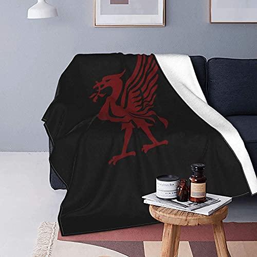 Manta de forro polar Liverpool Football Club, tela de pelo extra suave, manta de cama súper cálida, manta de sofá ligera, fácil de cuidar todas las estaciones fabricadas en Reino Unido