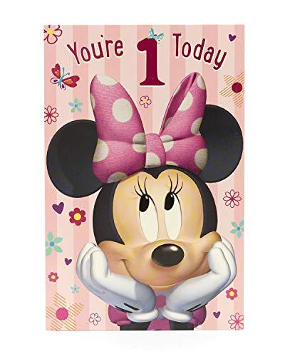 Minnie Maus–You 're 1Today–Geburtstagskarte mit englischem Schriftzug