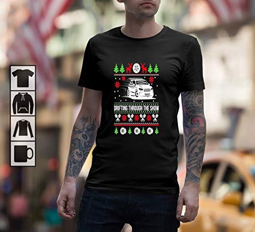 Drifting Through The Snow Ugly Christmas Sweater Unisex TShirt, Short Sleeves Shirt, Long Sleeves Tshirt, Unisex Hoodie, Sweatshirt For Mens Womens Ladies Kids