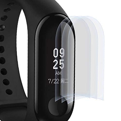 zanasta 3 Stück Schutzfolie kompatibel mit Xiaomi Mi Band 3 Displayschutzfolie Nano Schutz Folie | Volle Abdeckung, Klar Transparent