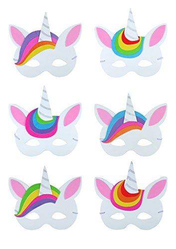 KP 12 x máscaras Unicornio Diseños Surtidos