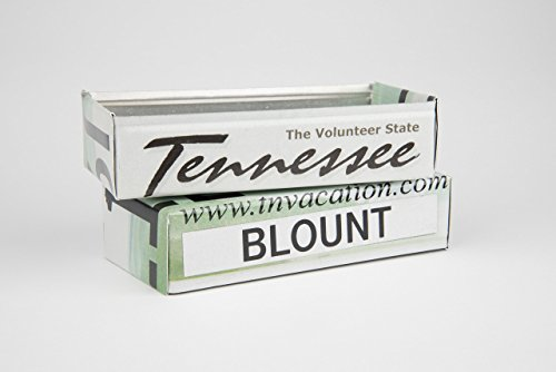 Gifts for Mom's Dad's and Grad's - Tennessee box made from a Tennessee License Plate - Tennessee Souvenir