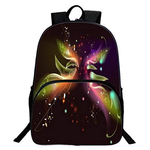 Le nouveau de plein air mouvement sac à dos mode Loisir personnalité 3D Ciel étoilé sac à dos sac d'ordinateur portable sac étudiant Polyester imperméable fermeture éclair 20L 40 * 30 * 13cm