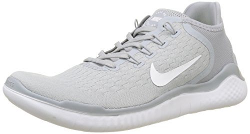 Nike Free Rn 2018, Zapatillas de Running para Hombre, Gris (Wolf Grey/White/White/Volt...