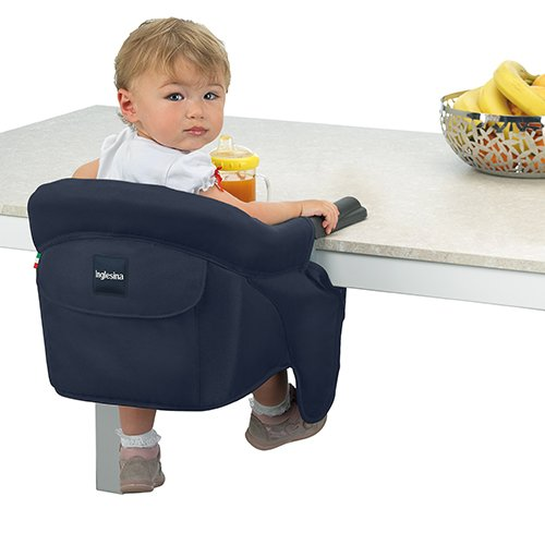 Inglesina Fast Table Chair - Award-Winning Convenient Baby High Chair - Use at Most Tables or Restaurants Without Leaving Scratches {Black}