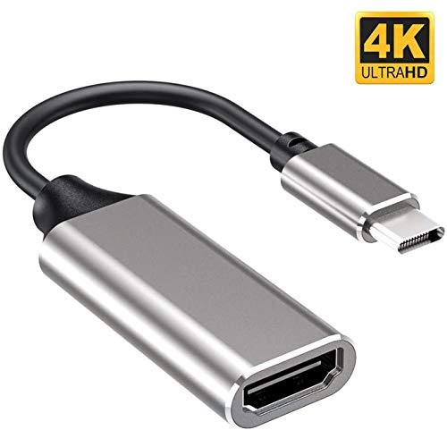 Ideal Swan USB C HDMI Adapter Unterstützt 4K Typ C HDMI Adapter [Kompatibel mit Thunderbolt 3 Ports] USB C zu HDMI für MacBook Pro, Samsung Note 9 / S9 / Note 8 / S8, Huawei Mate 20 und mehr - Silber