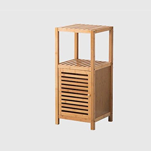 ZhuFengshop rek van natuurlijk hout, 2 lagen Free Punch badkamermeubel, voor douchecabines, frame 33 x 36 x 78 cm