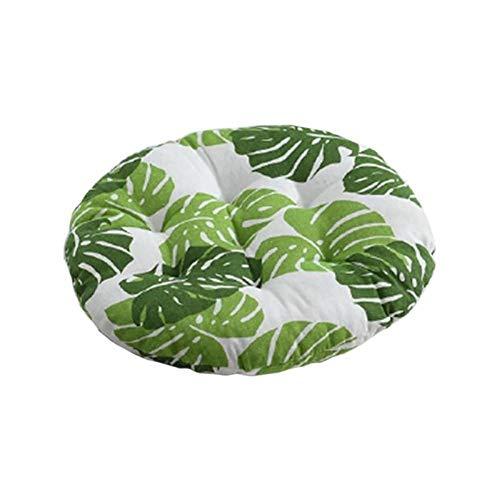 WEDFGX Cojín de Silla de algodón Antideslizante con Estampado de Plantas, cojín de Asiento de Tatami, Cojines Suaves para Silla de Oficina, cojín para Asiento de Coche, cojín de Invierno, Almohada