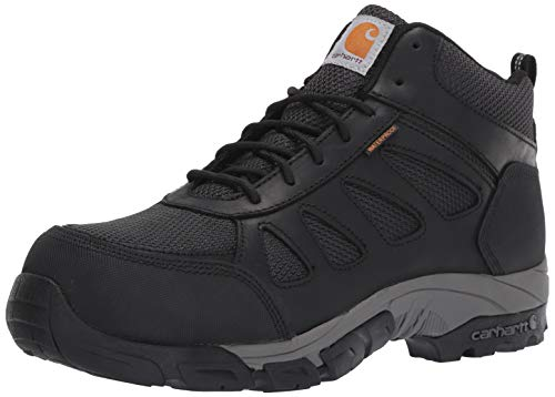Carhartt Men's Lightweight Wtrprf Mid-Height Work Hiker Carbon Nano Safety Toe CMH4481 Industrial Boot, Black Leathe/Nylon, 13 M US