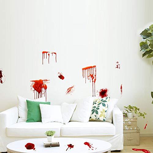 BeesClover Horrorblutende Handabdruck-Fuß 3D-Wandsticker, für Halloween, Boden-Tür-Dekoration, als Geschenk zu Hause