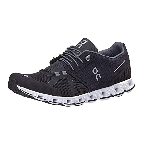 on Running Mens Cloud Road Shoes Black/White SZ 9