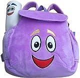 Dora Explorer Backpack , IGBBLOVE Soft Plush Toddler Backpack Rescue Bag with Map, Purple
