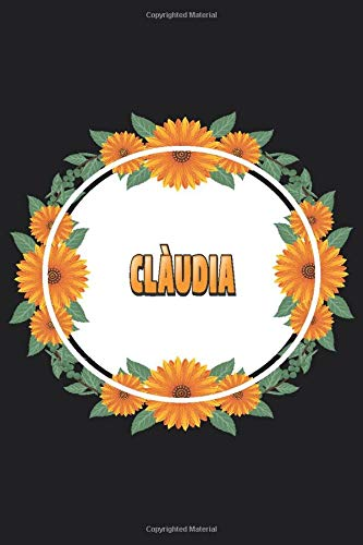 Clàudia: Personalized Notebook   Clàudia's Personal Writing Journal   Blank lined notebook   Note Taking for Clàudia