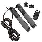 Weikeya Multi‑Fonctionnel Électronique Compteur Jumrope, Noir Calorie Compteur 300cm CR2320 X 2 30cm Fait de PVC