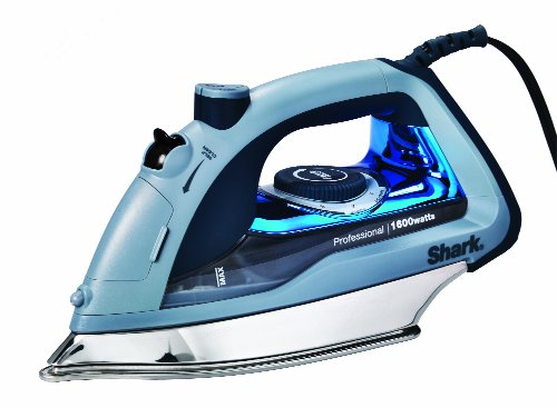 Product Image of the Shark Professional, Garment Steamer with Auto-Shut Off and Stainless Steel Soleplate, 1600 Watts Electric Steam Iron (GI405), Blue,