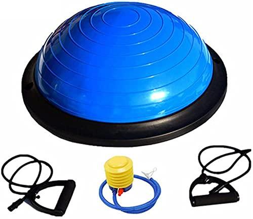 Fuerza Ejercicio Balanza Balance Trainer Estabilidad Bola / Tablero de Balance con Entrenamiento Manual y guiado Descargas (Color: Rosa Tamaño: 46 cm)-46cm_Azul