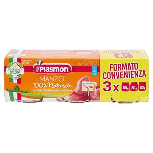 Plasmon Omogeneizzato Manzo, 24 x 80 g