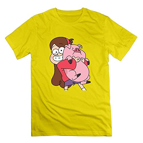 Little Girls and Pigs Laid Back T-Shirt Short Sleeve Cotton for Men's Tee