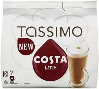 Tassimo Costa Latte (8 Drinks Per Pack) (Pack Of 2, Total 32 T-Discs)