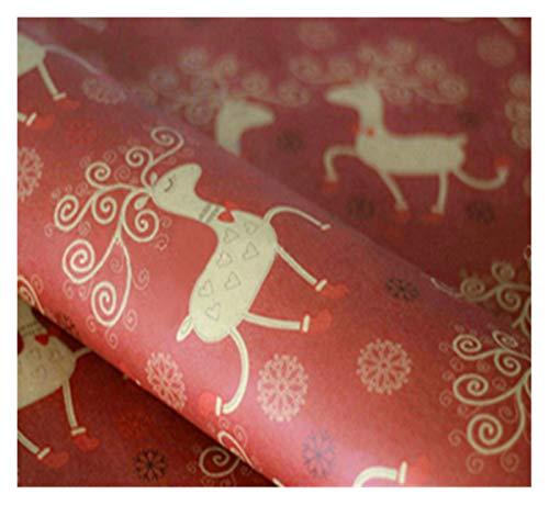 Weihnachtspapier Geschenkpapier 10pcs / lot Einwickelpapier englische Buchstaben Weihnachtspapier-Rolle DIY Fertigkeit-Papier-Geschenk-Hochzeit Geburtstag Bouquet Supplies Geschenkverpackung papier