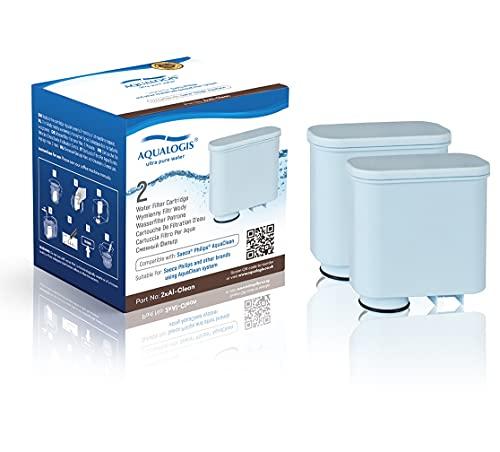 Aqualogis 2x Al-Clean per Saeco CA6903/01 AquaClean Kalk e filtro acqua (per macchine da caffè automatiche Saeco e Philips