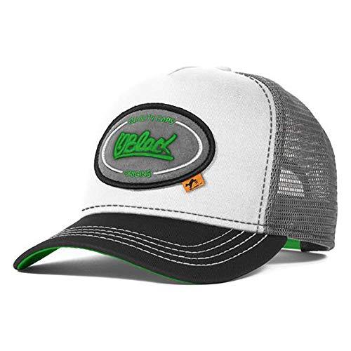 Oblack Gorras de Hombre Origins Meadow Gorras Mujer Gris Verde Beisbol Ajustable con Visera y Rejilla - Gorra Trucker